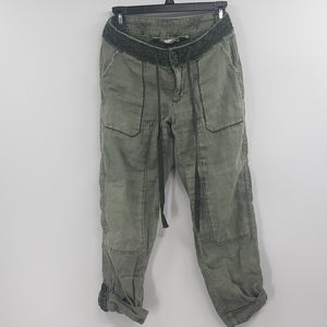 Hei hei army green linen jogger pants. Size 25